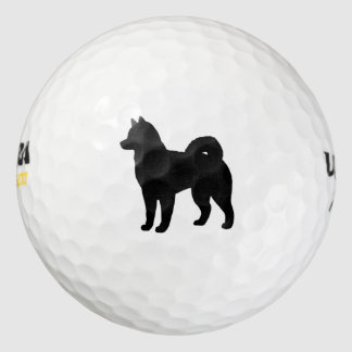 Alaskan Malamute Silhouette Golf Balls