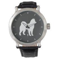 Alaskan Malamute Silhouette Wrist Watch