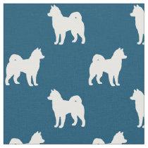 Alaskan Malamute Silhouettes Pattern Fabric