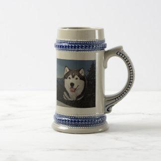 Alaskan Malamute Stein Coffee Mugs