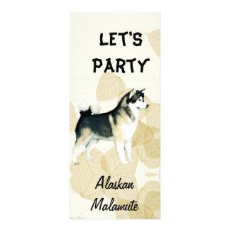 Alaskan Malamute Tan Leaves Motiff Announcement