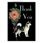 Alaskan Malamute Thank You Notecard Greeting Cards
