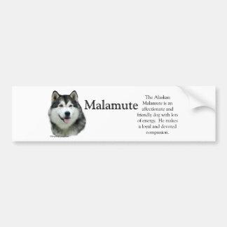 Alaskan Malamute Trivia Bumper Sticker Car Bumper Sticker
