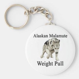Alaskan Malamute Weight Pull Keychain