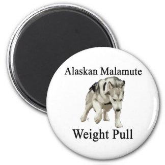 Alaskan Malamute Weight Pull Magnets