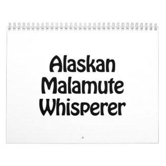 alaskan malamute whisperer calendar