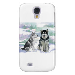 Case-Mate Barely There Samsung Galaxy S4 Case with Siberian Husky Phone Cases design