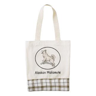Alaskan Malamute Zazzle HEART Tote Bag
