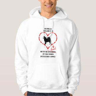 Alaskan Malamutes Must Be Loved Hoodie