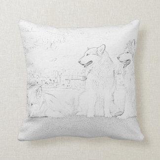 Alaskan Malamutes Throw Pillows