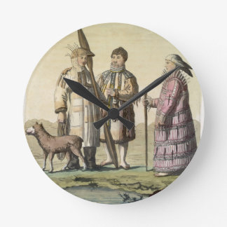 Alaskan men and women dressed for fishing (colour wallclock