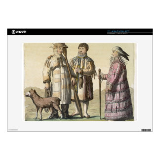Alaskan men and women dressed for fishing (colour laptop decal