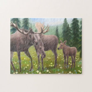 Alaskan Moose Family Puzzle