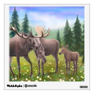 Alaskan Moose Family Wall Decal