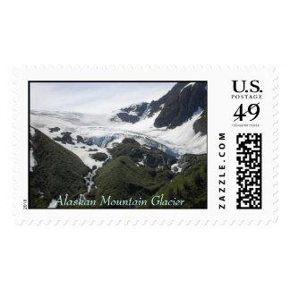 Alaskan Mountain Glacier Postage