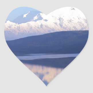 Alaskan Mountain.jpg Heart Sticker