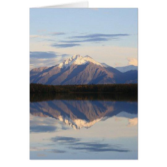 Alaskan Mountain Sunset Card