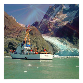 Alaskan Mountain View with Boat Card