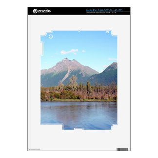Alaskan mountains,forest and river, Alaska, USA Decal For iPad 3