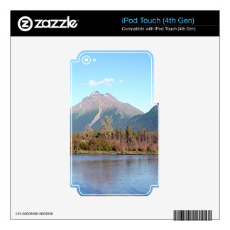 Alaskan mountains,forest and river, Alaska, USA Decal For iPod Touch 4G