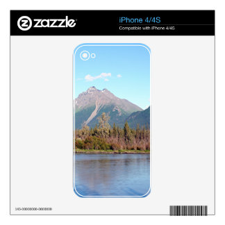 Alaskan mountains,forest and river, Alaska, USA Decal For iPhone 4