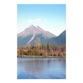 Alaskan mountains,forest and river, Alaska, USA Stationery