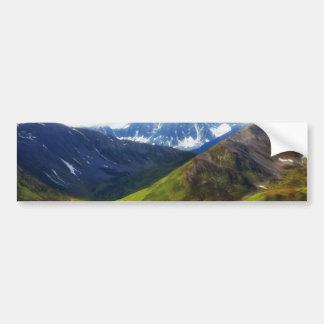 Alaskan Mountains Scene Bumper Sticker