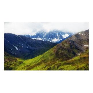 Alaskan Mountains Scene Business Card