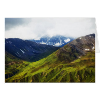 Alaskan Mountains Scene Card