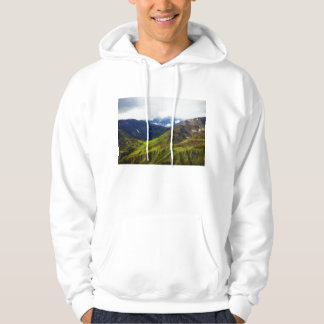 Alaskan Mountains Scene Hoodie