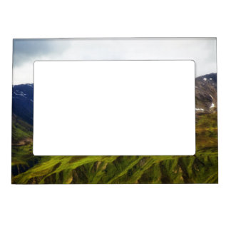 Alaskan Mountains Scene Magnetic Picture Frame