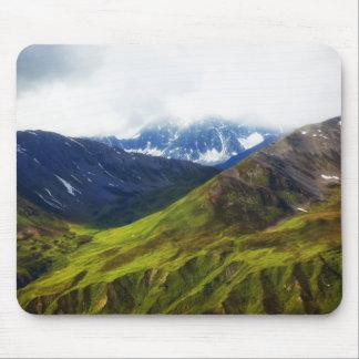 Alaskan Mountains Scene Mouse Pad