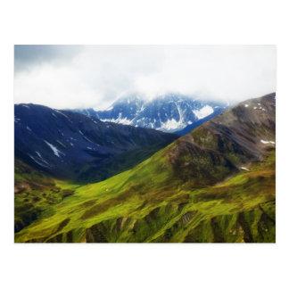 Alaskan Mountains Scene Postcard