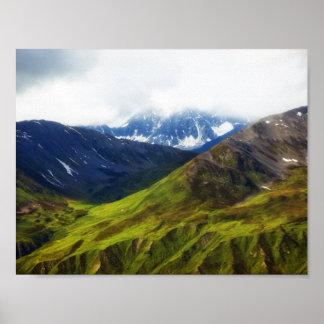 Alaskan Mountains Scene Poster