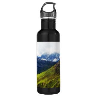 Alaskan Mountains Scene Stainless Steel Water Bottle