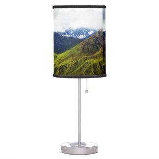 Alaskan Mountains Scene Table Lamp