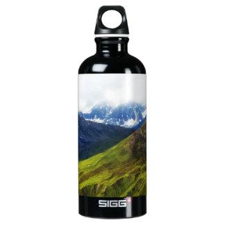Alaskan Mountains Scene Water Bottle