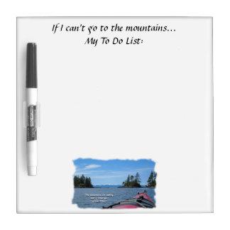 Alaskan Mtn Range / Mtns are calling…Muir Dry-Erase Board