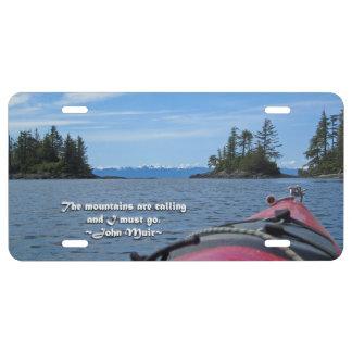 Alaskan Mtn Range / Mtns are calling…Muir License Plate