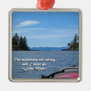 Alaskan Mtn Range / Mtns are calling…Muir Christmas Ornament