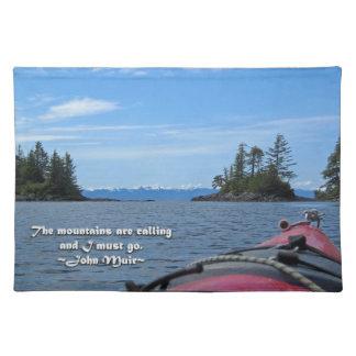 Alaskan Mtn Range / Mtns are calling…Muir Cloth Place Mat