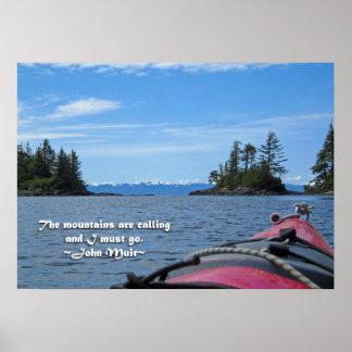 Alaskan Mtn Range / Mtns are calling…Muir Poster