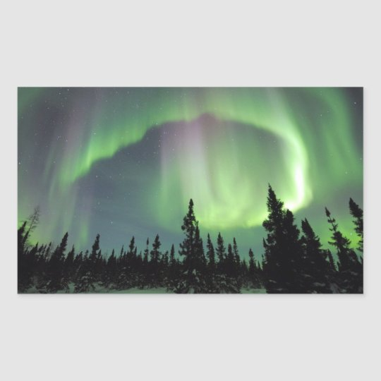 Alaskan Nights Rectangular Sticker
