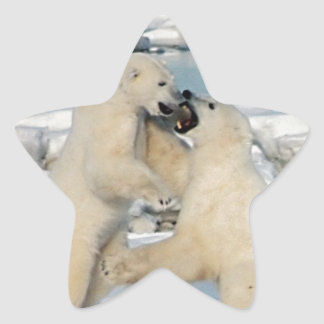Alaskan Polar Bears Star Sticker