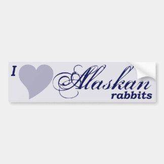 Alaskan rabbits bumper sticker