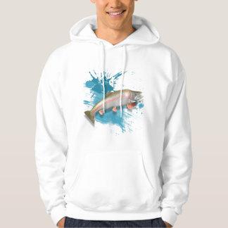 alaskan rainbow trout hooded sweatshirt