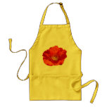 Alaskan Red Poppy Colorful Flower Adult Apron