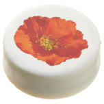 Alaskan Red Poppy Colorful Flower Chocolate Covered Oreo