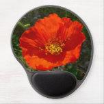 Alaskan Red Poppy Colorful Flower Gel Mouse Pad