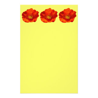 Alaskan Red Poppy Colorful Flower Stationery